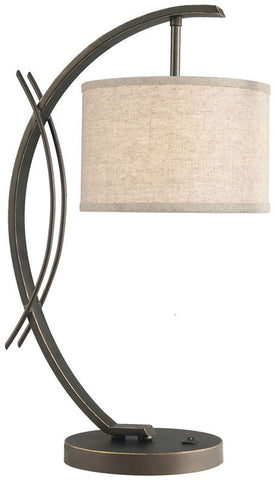 Woodbridge Lighting Eclipse Indoor Lighting Table Lamp 13481MEB-S10801 - PeazzLighting