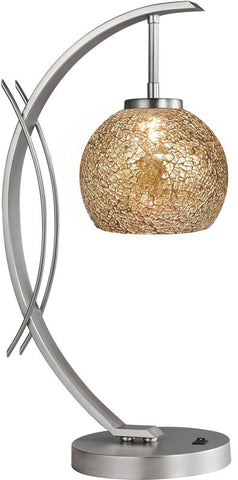 Woodbridge Lighting Eclipse Indoor Lighting Table Lamp 13481STN-M00MIR - PeazzLighting