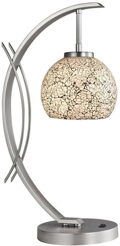 Woodbridge Lighting Eclipse Indoor Lighting Table Lamp 13481STN-M00WHT - PeazzLighting