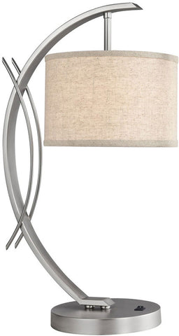 Woodbridge Lighting Eclipse Indoor Lighting Table Lamp 13481STN-S10801 - PeazzLighting
