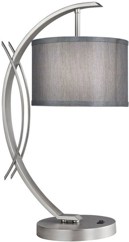 Woodbridge Lighting Eclipse Indoor Lighting Table Lamp 13481STN-S10802 - PeazzLighting