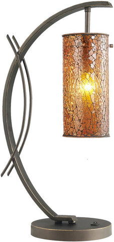 Woodbridge Lighting Eclipse Indoor Lighting Table Lamp 13482MEB-M10AMB - PeazzLighting