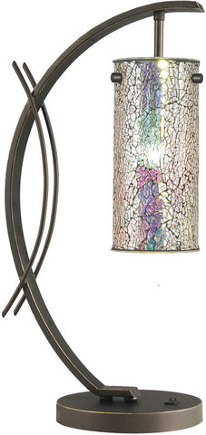 Woodbridge Lighting Eclipse Indoor Lighting Table Lamp 13482MEB-M10IRI - PeazzLighting
