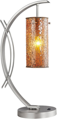 Woodbridge Lighting Eclipse Indoor Lighting Table Lamp 13482STN-M10AMB - PeazzLighting