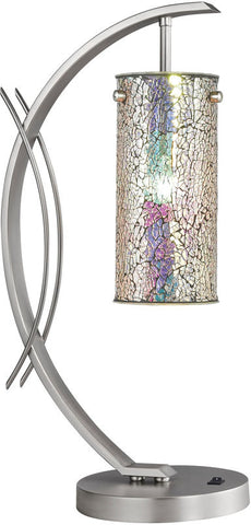 Woodbridge Lighting Eclipse Indoor Lighting Table Lamp 13482STN-M10IRI - PeazzLighting