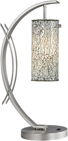 Woodbridge Lighting Eclipse Indoor Lighting Table Lamp 13482STN-M10WHT - PeazzLighting