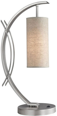 Woodbridge Lighting Eclipse Indoor Lighting Table Lamp 13482STN-S10401 - PeazzLighting