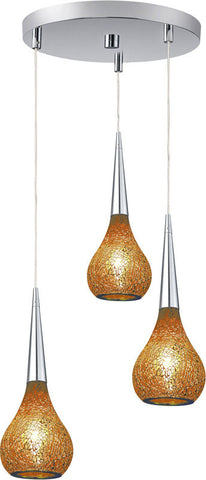 Woodbridge Lighting Torine Indoor Lighting Mini Pendant Cluster 13524STN-M30AMB - PeazzLighting