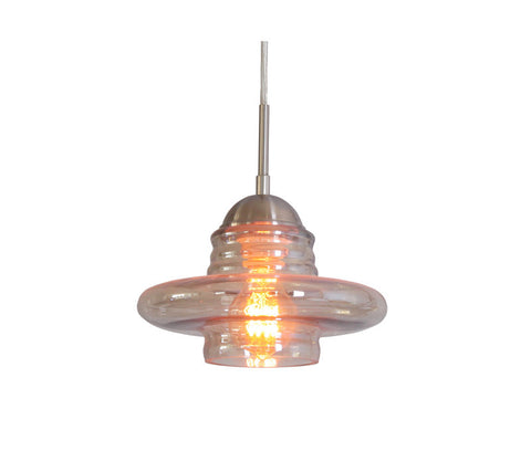 Woodbridge Lighting 13623STN-C10922 1 Light Transference Mini Pendant, Satin Nickel - PeazzLighting