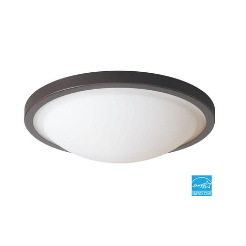 Woodbridge Lighting Energy Saving 2-light Mahogany Bronze Flush Mount - Peazz.com