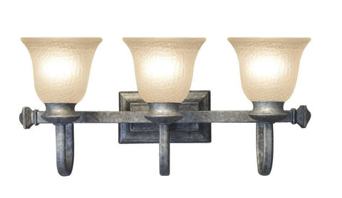 Woodbridge Lighting Dresden 3-light Greystone Bath Bar - Peazz.com