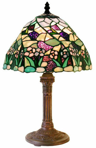 Tiffany Style Lake Table Lamp by Warehouse of Tiffany 1953+MB46 - Peazz.com