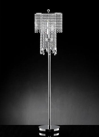 Warehouse of Tiffany FL9262 Diana Crystal Floor Lamp - Peazz.com
