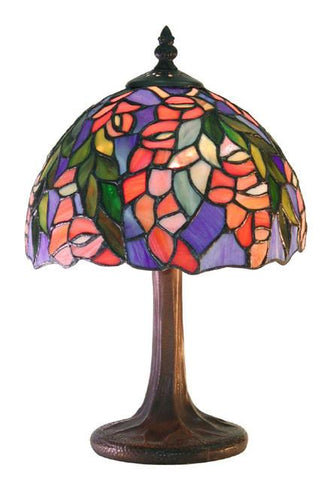 Tiffany Style Floral Table Lamp by Warehouse of Tiffany M23+SB21 - Peazz.com