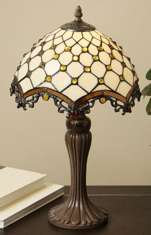 Tiffany Style Jewel Roman Table Lamp by Warehouse of Tiffany TFW9001/12TL - Peazz.com