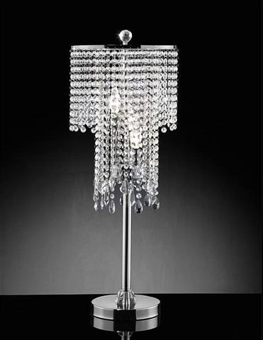 Warehouse of Tiffany TL9263 Cassandra Crystal Table Lamp - Peazz.com