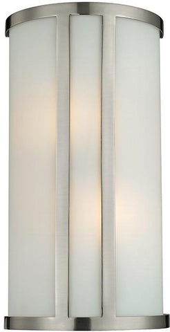 Cornerstone 5102WS/20 2 Light Wall Sconce In Brushed Nickel - Peazz.com