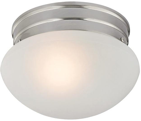 Cornerstone 7021FM/20 1 Light Mushroom Flushmount In Brushed Nickel - Peazz.com