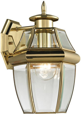 Cornerstone 8601EW/85 Ashford 1 Light Exterior Coach Lantern In Antique Brass - Peazz.com