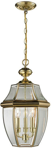 Cornerstone 8603EH/85 Ashford 3 Light Exterior Hanging Lantern In Antique Brass - Peazz.com