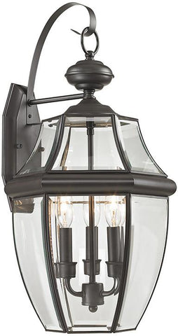 Cornerstone 8603EW/75 Ashford 3 Light Exterior Coach Lantern In Oil Rubbed Bronze - Peazz.com