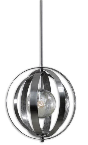 Uttermost 21938 Trofarello Silver 1 Light Pendant - UTMDirect