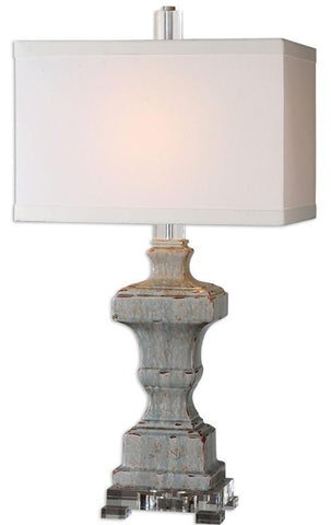 Uttermost 26484-1 San Marcello Blue Glaze Lamp - UTMDirect