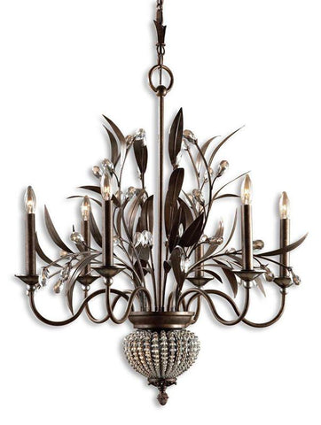 Uttermost 21017 Cristal De Lisbon 6+2 Light Chandelier - UTMDirect