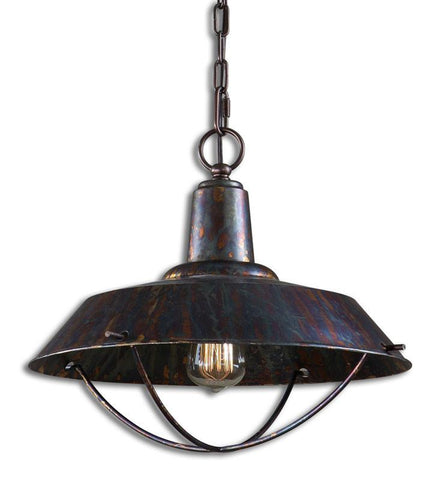 Uttermost 21974 Arcada 1 Light Bronze Pendant - UTMDirect