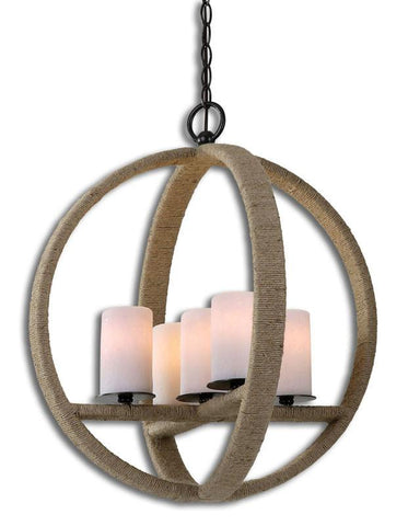 Uttermost 21997 Gironico Round 5 Light Pendant - UTMDirect