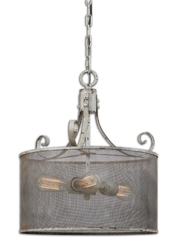Uttermost 22004 Pontoise 3 Light Drum Pendant - UTMDirect