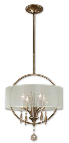 Uttermost 21962 Alenya 4 Light Fabric Drum Pendant - UTMDirect