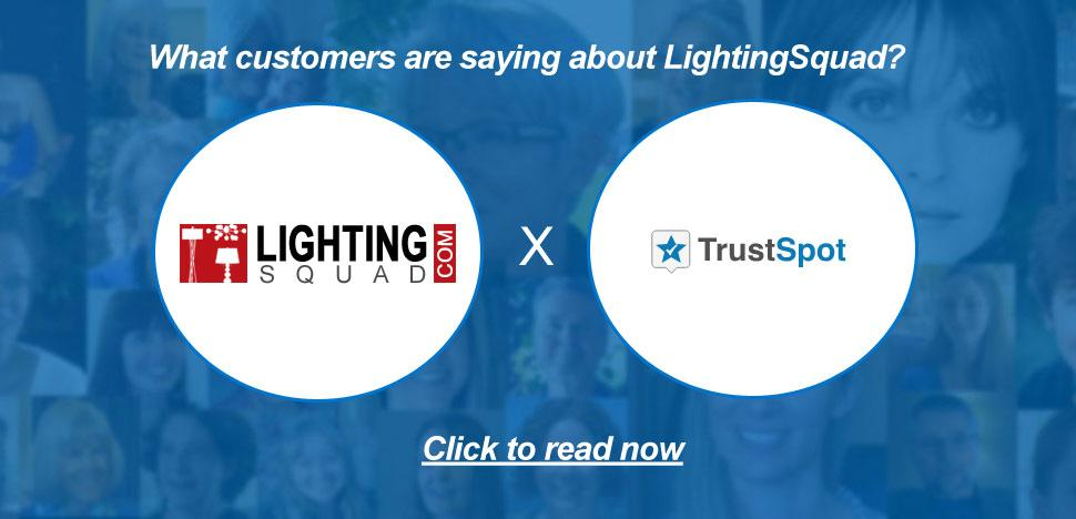 LightingSquad Customer Testimonials via TrustSpot