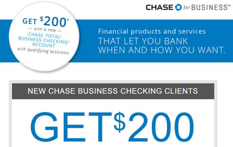 Chase business checking bonus coupon