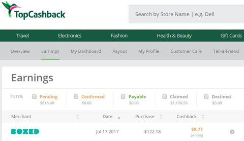 TopCashBack - get cash back for online shopping with Top CashBack