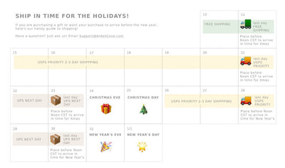 Arrive by the Holidays! Shipping Guide for Christmas & New Years