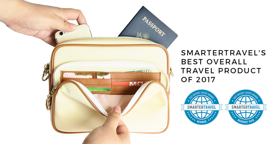 ARDEN COVE TRAVEL BAG SWEEPS 2017 SMARTERTRAVEL EDITORS' CHOICE AWARDS
