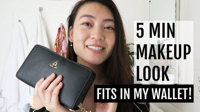 5 Min Makeup Look with only what fits in Marina Wallet!