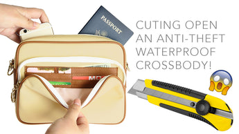 Cutting Open an Arden Cove Anti-Theft Waterproof Crossbody!