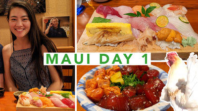 Arden Cove Travels to Maui: Day 1 Omakase, Poke & Chickens!