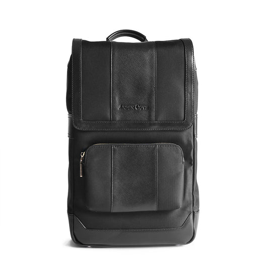 Laptop Backpack Black Front View