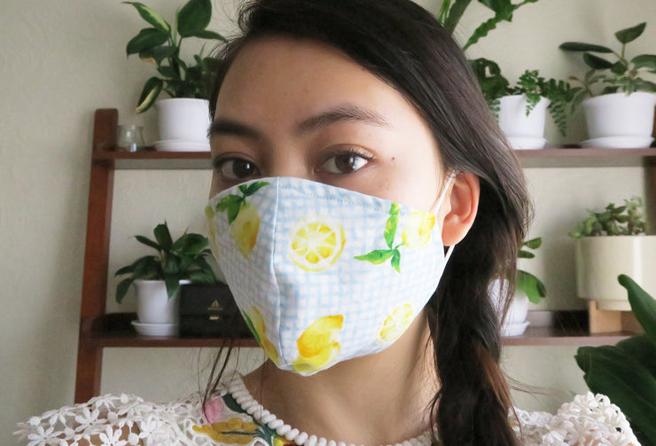Silk, Stretch Chiffon & Cotton Reusable Fabric Face Masks with Nose Wire
