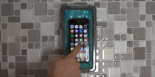 ShowerCase: Waterproof Universal Phone Case & Wall Dock