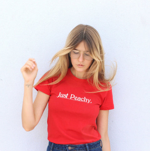 Just Peachy (women's fitted tee)