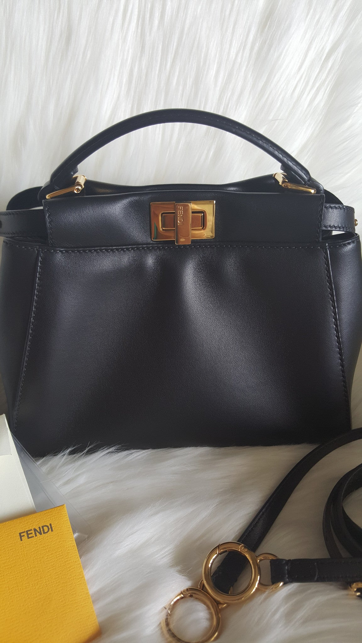 FENDI PEEKABOO MINI SATCHEL - CALFSKIN LEATHER