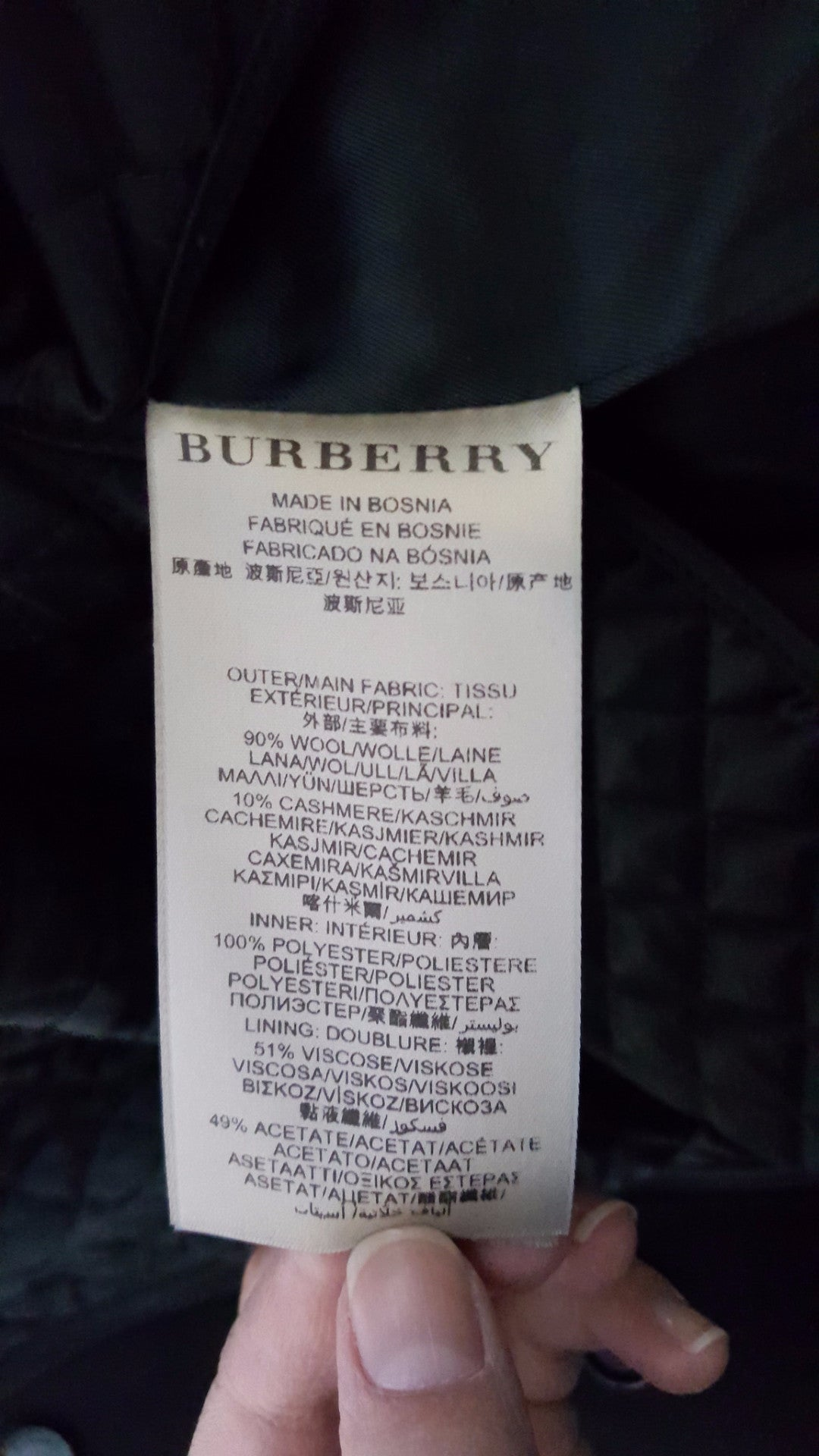 BURBERRY LONDON WOOL TRENCH COAT - SIZE US 4