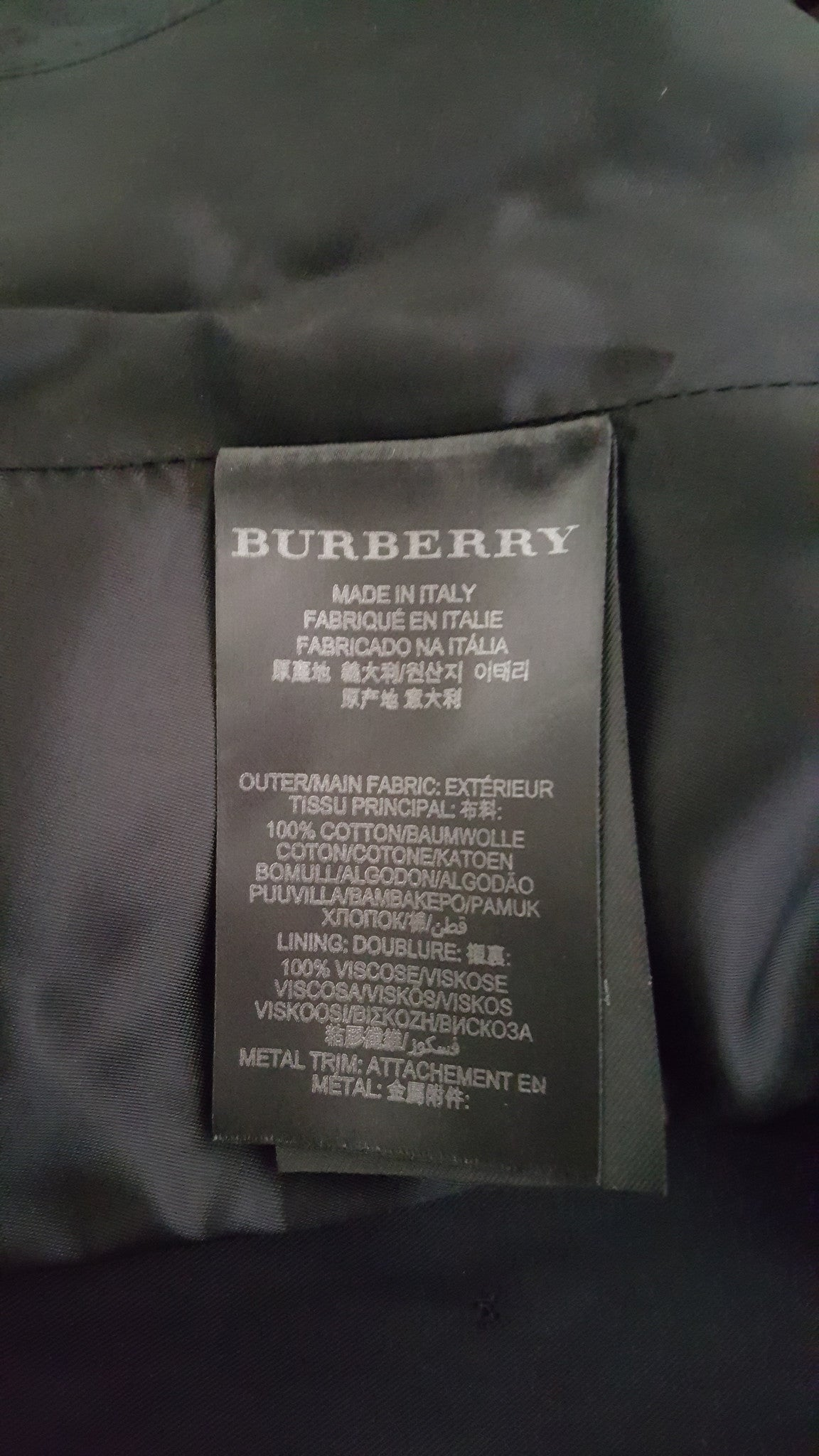 BURBERRY PRORSUM SLIM FIT TRENCH COAT - SIZE 38