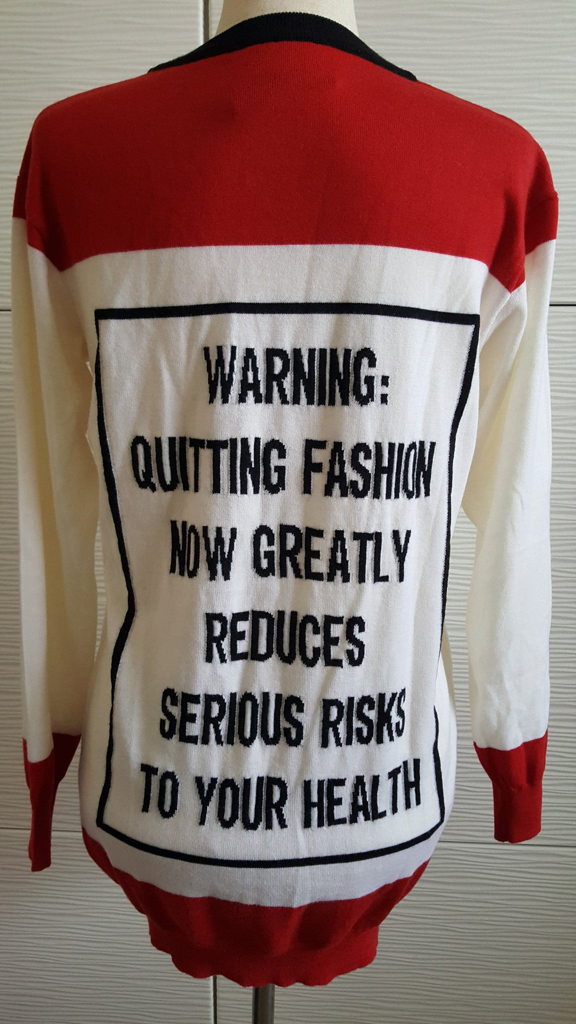 MOSCHINO COUTURE SWEATER DRESS - SIZE XS