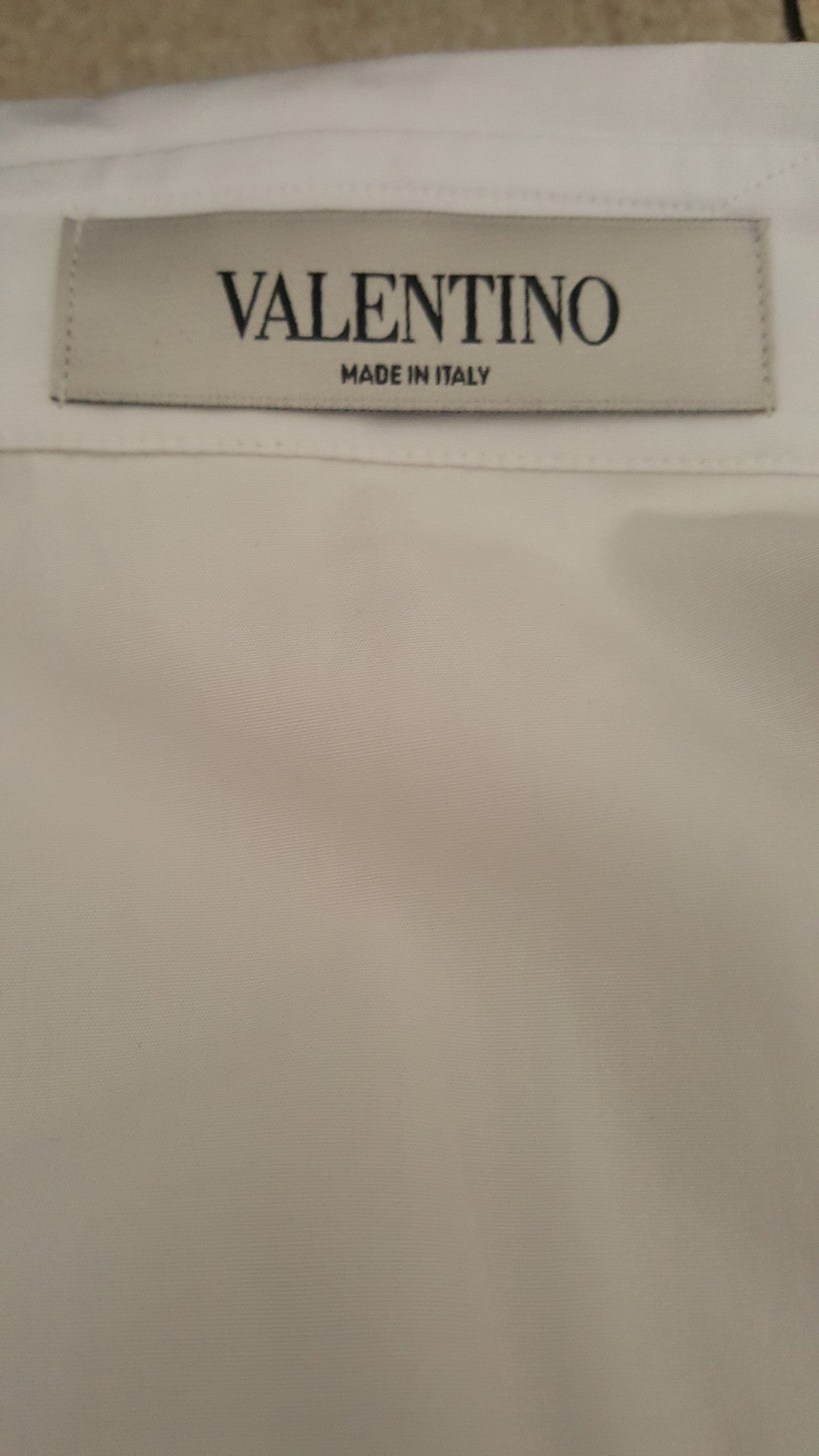 VALENTINO FAUX LEATHER POPLIN SHIRT - SIZE 4
