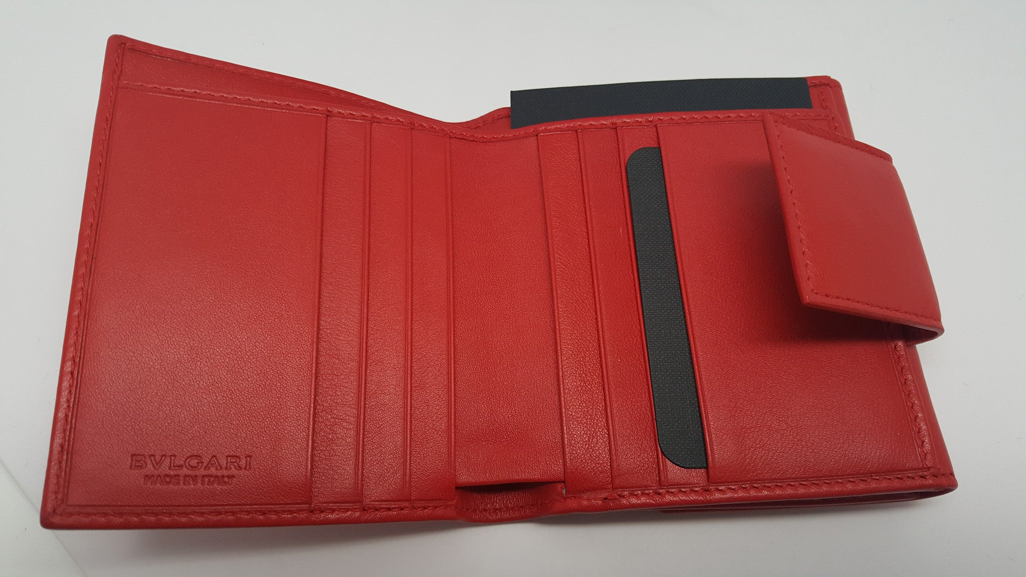 BVLGARI TWO-FOLD WALLET - SHANGHAI RED